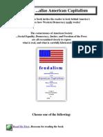 Feudalism Alias American Capitalism