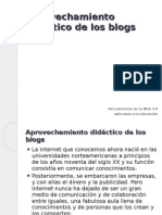 Aprovechamiento didáctico de los blogs