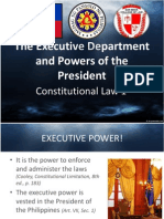 Executive Department and Powers of the President