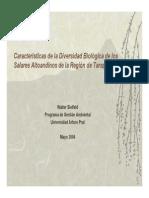 Características de la Diversidad Biológica de los Salares Altoandinos de la Región de Tarapacá. 2004