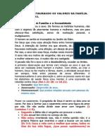 PALESTRA RESTAURANDO OS VALORES DA FAMÍLIA 03.08.2013