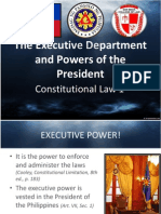 Executive Department, Powers of the President