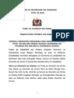 Ofisi Ya Rais Tume Ya Utumishi Wa Umma Press Release Oktoba 01