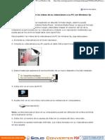 Cómo transferir los vídeos de su videocámara a su PC con Windows Xp