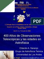400 Años de Observaciones Telescópicas y las edades en Astrofísicacoro