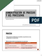 Administración de procesos y del procesador SISTEMAS OPERATIVOS