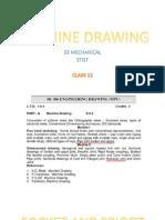 Machine Drawing S3 Mech [Class 12]