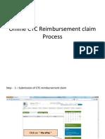 Online CTC Reimbursement Claim Process