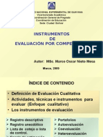 INSTRUMENTOS DE EVALUACIÓN POR COMPETENCIAS v-  29-05-2009
