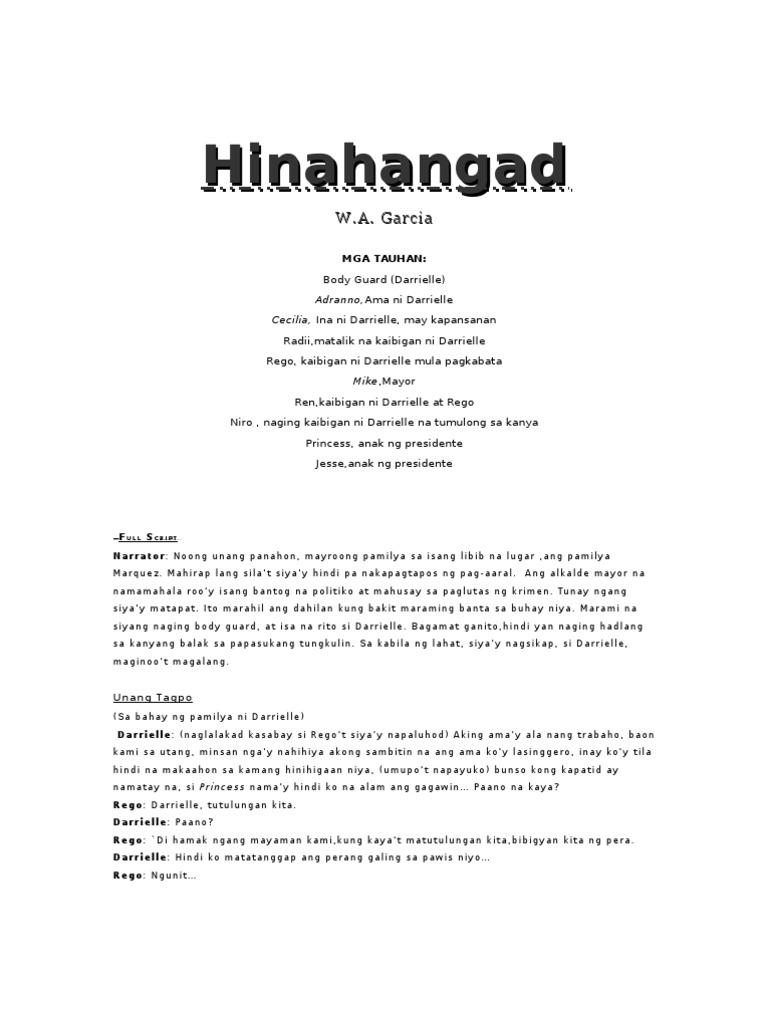 Kalikasan Tagalog Monolog College Paper Example 1822 Words