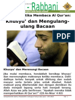 Buletin Jum'at - Adab Membaca Al Qur'An