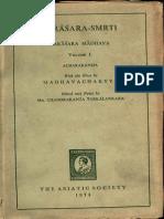 Parashar Smriti Parashar Madhav I - Asiatic Society