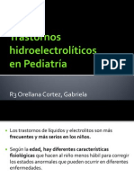 Trastornos hidroelectrolíticos en PED