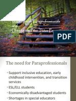 paraeducators and peer tutors