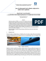Dynamic response of submerged steel cylinder subjected to underwater explosion [Hamed Valaei]
