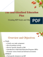 sped ieps and assessment