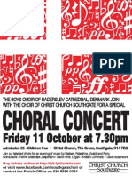 Concert - Christ Church Southgate - Friday 11 October 2013 at 7.30pm with Haderslev Cathedral (Denmark) Boys Choir