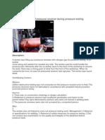 Explosion of Pressure Receiver During Pressure Testing