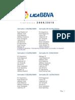 La Liga Calendario 09_10