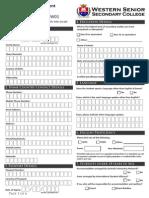 Application for Enrolment International(FW01)SEP2013