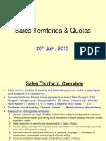 Sales Teritories & Quotas