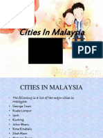Cities of Malaysia