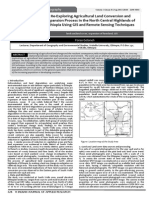 Re-Exploring Agricultural Land Conversion and  Expansion Process in the North Central Highlands of Ethiopia Using GIS and Remote Sensing Techniques