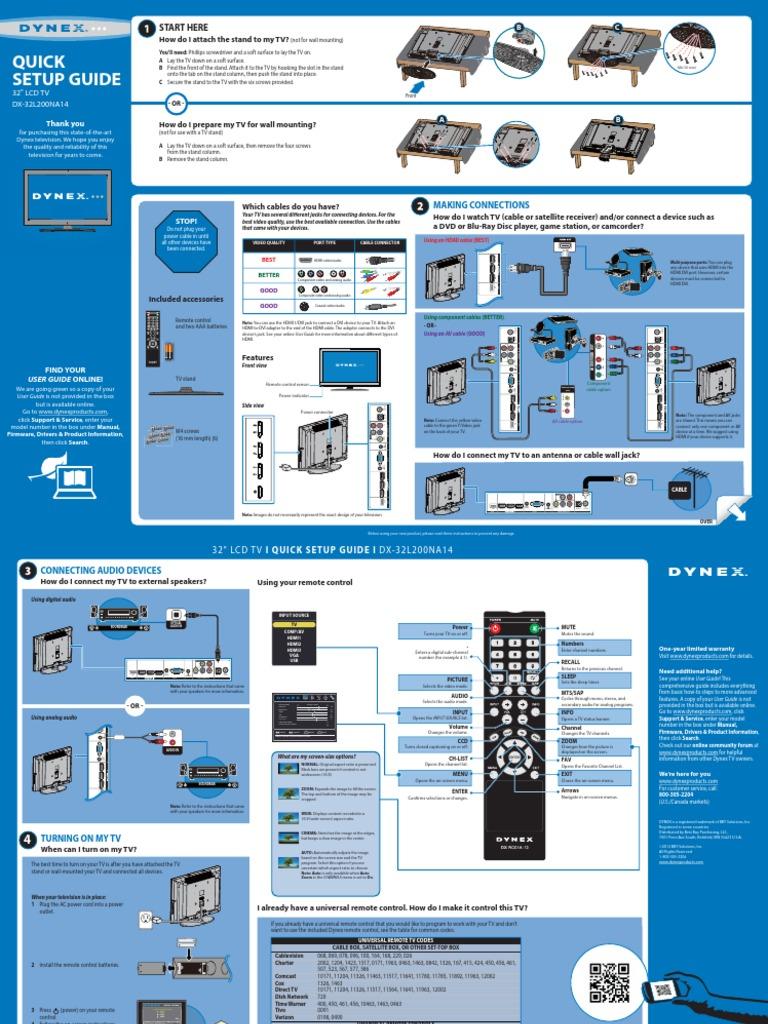 DX-32L200NA14_13-0166_QSG_V2_EN_Final_lr | Hdmi | Electrical Connector