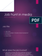 job hunt in media