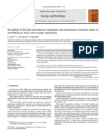 Durability of 20-year-old external insulation and assessment of various types of retrofitting to meet new energy regulations
