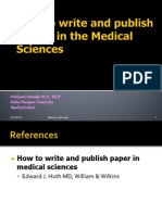 How to Write Paper in Medical Sciences (Prof.wahyuni)