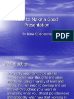 how to make agood presentation