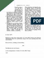 Cazul Rutili vs.minister Fir the Interior 1975