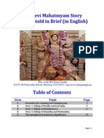 The Devi Mahatmyam Story Being Retold in Brief (in English)