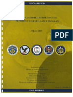Unclassified Report on the President's Surveillance Program