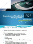 Ghazanfar Jawaid Importance of Coal