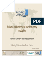 Seismic Calibration and Low Frequency Modeling