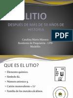 LITIO - DESPUÉS DE MÁS DE 50 AÑOS DE HISTORIA