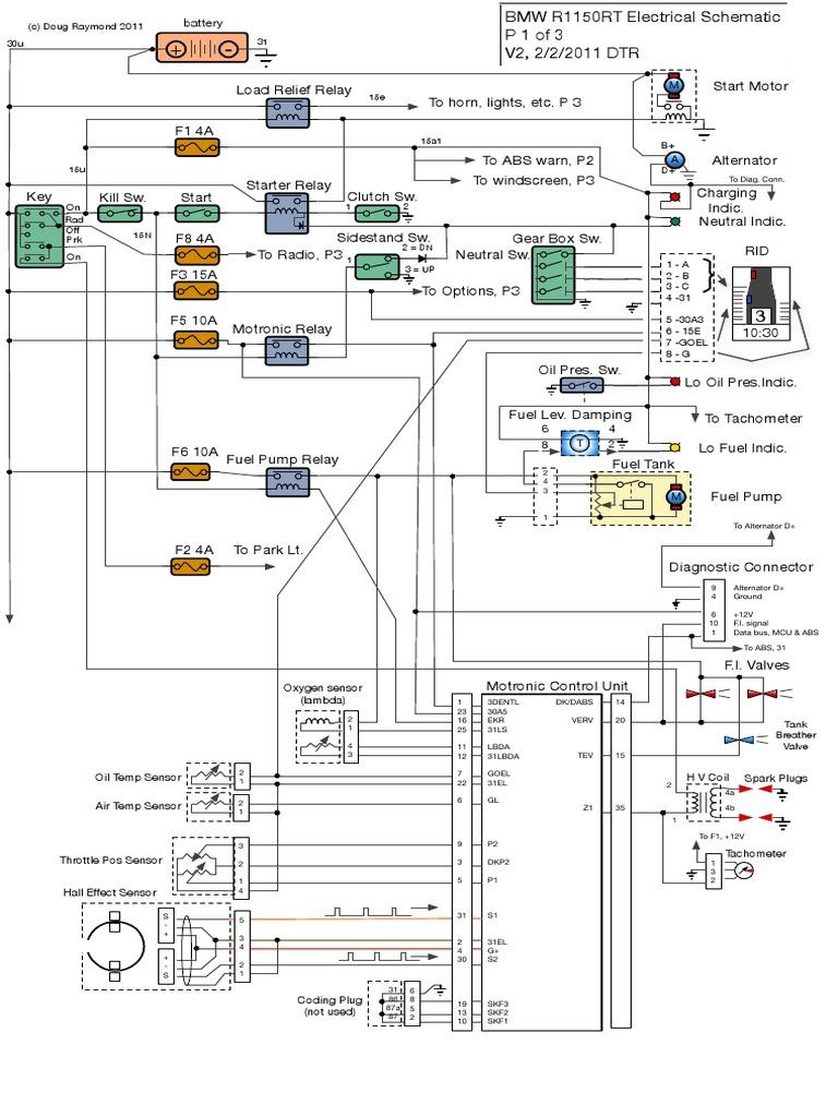 R1150RT Elec Diagram | Anti Lock Braking System | Components | Bmw R1150rt Wiring Diagram Download |  | Scribd