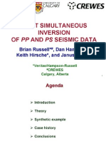 Simultaneous Inversion of PP and PS Seismic Data
