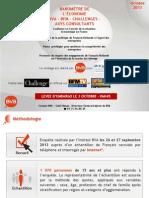 Baromètre de l'économie BVA - Axys - BFM - Challenges (Vague 58) - Octobre 2013