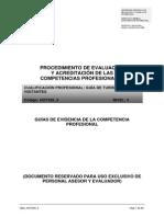 procedimiento de evaluación y acreditación de las competencias profesionales del guia