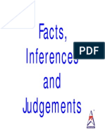 Extra Questions on Facts, Inferences and Judgements (FIJ)