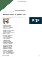 Pacalici La Scoala, De Nicolae Labis