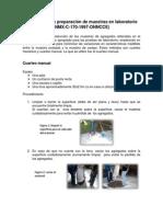 Muestreo y preparación de muestras en laboratorio