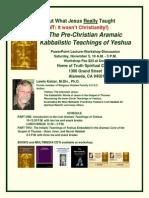 The Pre-Christian Aramaic Kabbalistic Teachings of Yeshua