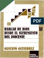 47994976 Gustavo Gutierrez Hablar de Dios Desde El Sufrimiento