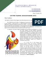 Appel Missionnaire - Octobre 2013 [FRANÇAIS]