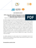 FRENCH ICPD Official Final Pre Youth Conference Ouctome Recommendations