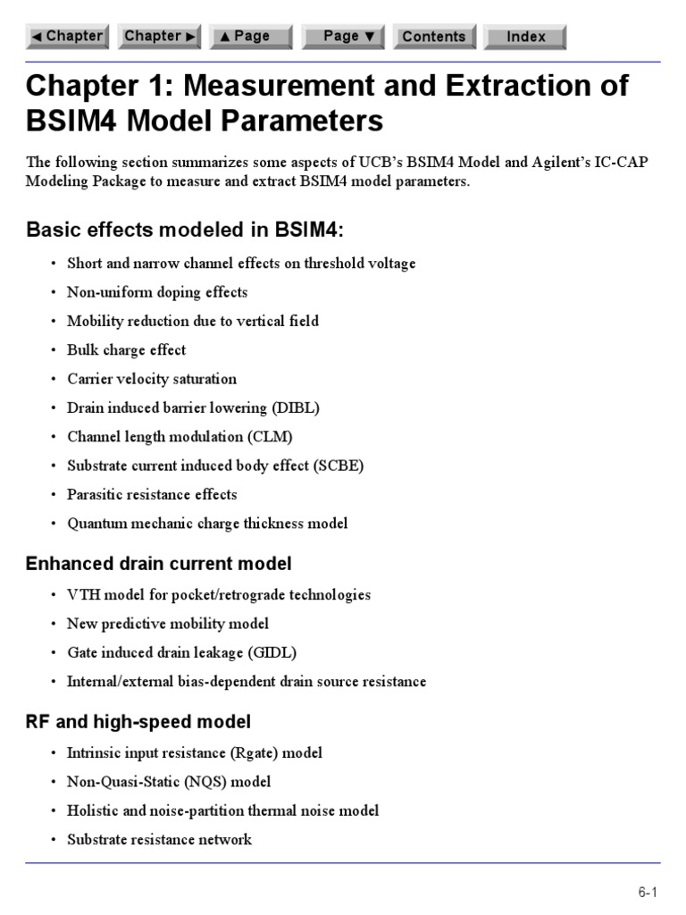 Chapter 1 Measurement And Extraction Of Bsim4 Model
